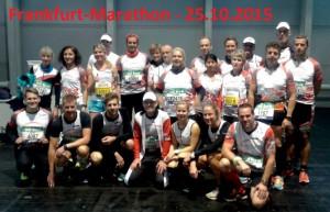 Mannschaftsfoto Frankfurt-Marathon