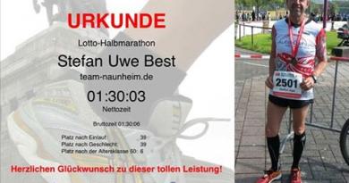Ein schneller Halbmarathon am Deutschen Eck