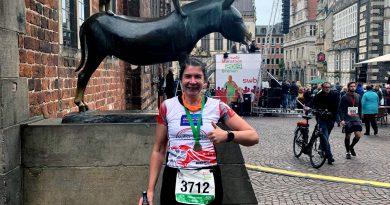 15. swb Marathon Bremen – die Bremer Stadtmusikanten waren auch dabei